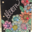Ann Corbiere-Scott's Bloom Art Journal page featuring Aquarelle water color pencils